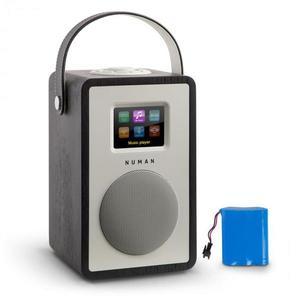 Numan Mini Two, design internetrádió, WiFi, DLNA, bluetooth, FM, tölgyfa, tölthető akkumulátor mellékelve kép