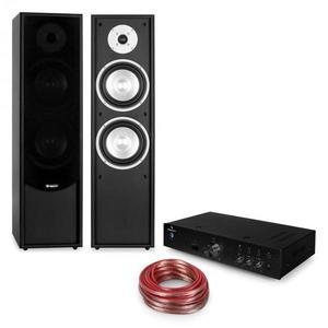 Auna Linie 300, HiFi készlet, erősítő + 2 passzív oszlop hangfal, fekete kép