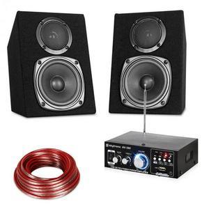 Electronic-Star HiFi Stereo Sound Set, erősítő és hangfal készlet, USB, SD, MP3 - 30 Watt kép