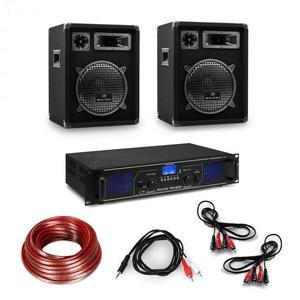 Electronic-Star HiFi erősítő és háromrészes hangfalkészlet, digitális erősítő, hangfalak kábelekkel együtt kép