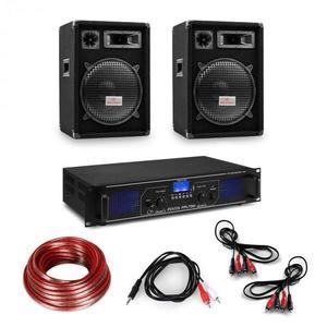 """Electronic-Star HiFi erősítő & hangfal szett, 2 x 350 W erősítő, 2 x hangfal, 12"""", 300 W RMS kép"""