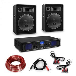 """Electronic-Star HiFi erősítő & hangfal szett, 2 x 350 W erősítő, 2 x hangfal, 15"""", 400 W RMS kép"""