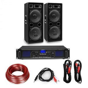 """Electronic-Star HiFi erősítő & hangfal szett, 2 x 500 W erősítő, 2 x hangfal, 12"""", 500 W RMS kép"""