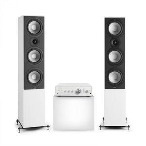 Numan Drive 801, sztereó készlet, sztereó erősítő, torony hangfal, fehér/fehér kép