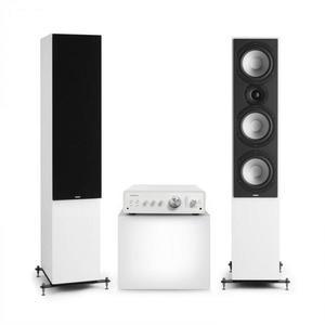 Numan Drive 801, sztereó készlet, sztereó erősítő, torony hangfal, fehér/fekete kép