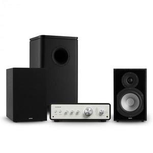 Numan Drive 802, sztereo készlet, erősítő, polc hangfal, subwoofer, burkolat, fekete kép
