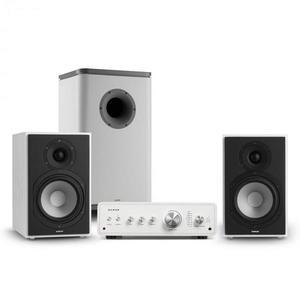 Numan Drive 802, sztereo készlet, erősítő, polc hangfal, subwoofer, BT 5.0, fehér kép
