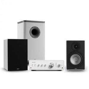 Numan Drive 802, sztereo készlet, erősítő, hangfal, subwoofer, burkolat, fehér/szürke kép