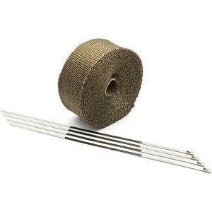 M-Style hőálló kipufogóvezeték bandázs 10m - bronz kép