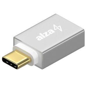 AlzaPower OTG USB-C-ről (M) USB-A 3.0-ra (F), ezüst kép