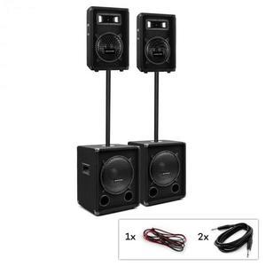 Auna Pro PW-Series MKII, passzív PA készlet, 2 x subwoofer + 2 x 2-sávos hangfal kép