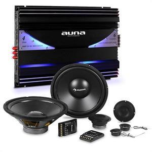 Auna CS Comp 10, HiFi összeállítás autóba, hangfal készlet/hatcsatornás végerősítő kép