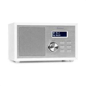 Auna Ambient DAB + / FM, rádió, BT 5.0, AUX bemenet, LCD kijelző, ébresztőóra, fa kivitel, fehér kép
