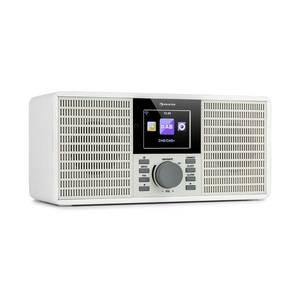 """Auna IR-260, internetes rádió, WLAN, USB, AUX, UPnP, 2, 8"""" HCC kijelző, távirányító, fehér kép"""