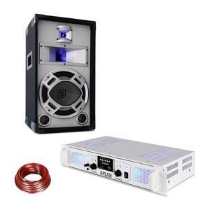 Skytec SPL700MP3, erősítő hangfallal, fehér kép