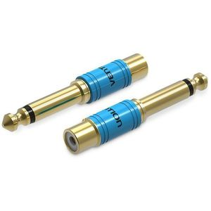 Vention 6.3mm Male Jack to RCA Female Audio Adapter Gold kép
