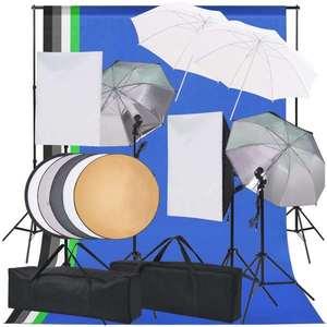 vidaXL fotó stúdió világítás szett kép