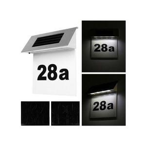 Szolár házszámfény, 4 db LED világítással kép