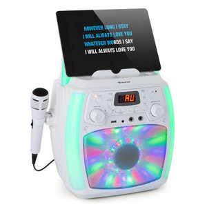 Auna StarMaker Plus, karaoke rendszer, karaoke készülék, bluetooth, USB, CD, LED show, cinch kép