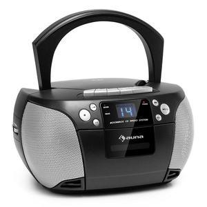 Auna Harper, CD boombox, CD lejátszó, bluetooth, kazetták, FM, AUX, USB kép