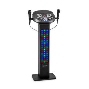 Auna KaraBig LightUp MKII, karaoke rendszer, BT, 2 x mikrofon, többszínű, 2 x USB, 40 W RMS, 480 W peak kép