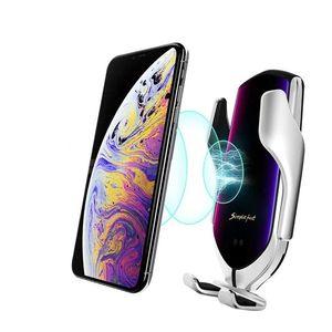 Autós telefontartó és vezeték nélküli töltő, NFC - Arany kép