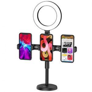 KAKU Ring Stand mobil tartó és LED körfény, fekete (KSC-469) kép