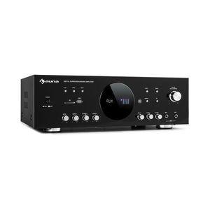 Auna AMP-218 BT, Digital-Surround erősítő, 5.1, 2 x 120 W, 3 x 50 W, RMS, BT, 2 x mikrofon kép